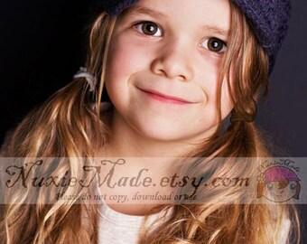 2T-4T Girls Grey Hat with Flowers, newsboy, beanie hat, girls hat, childrens hat, crochet hat, hat for girls, winter hat, tween hat