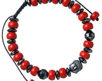 Cinnabar Stone Beaded Buddha Bracelet for Men and Women   BraceletsDR