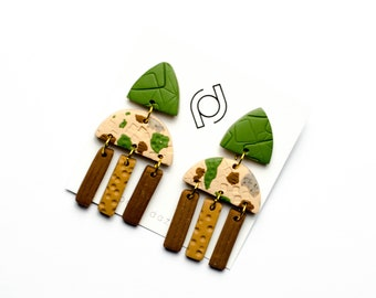 Polymer Clay Earrings - Ivy