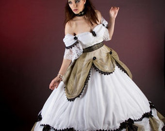 Steampunk princess hoop cage bridal gown
