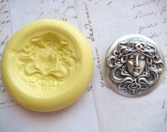 WOODLAND GODDESS - Flexible Silicone Mold - Push Mold, Jewelry Mold, Polymer Clay Mold, Resin Mold, Craft Mold, Food Mold, PMC Mold