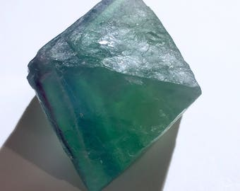 Top Quality 73g XL Natural Gem Multicolor Fluorite Octahedron Crystal - China - Item:F17083