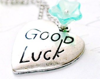 Good Luck Jewelry, Good Luck Necklace, Heart Necklace
