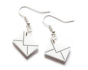 Post Letter Earrings