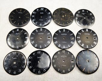 Vintage Watch Faces - set of 12 - c28