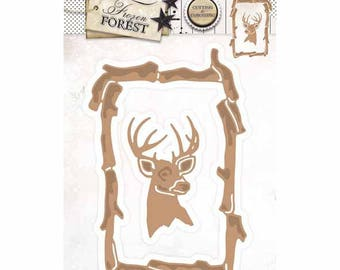 This frame 2 wood and reindeer STENCILFF18