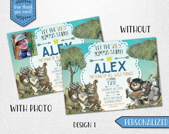 Where the Wild Things Are invitation, Where the Wild Things Are birthday invitation, Where the Wild Things Are invite!