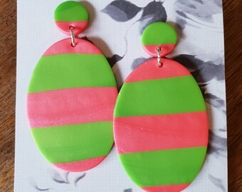 Toffee apple - large oval dangles