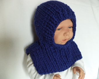 Baby Hat knit Merino Wool winter Cap 39-42 cm