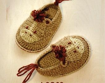 Horse Baby Booties Crochet Pattern Horse Preemie Shoes Horse Newborn Socks Crochet Animal Horse Slippers Crochet Horse Applique (HB03-B-PAT)