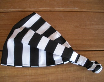 Womens Headband Fabric Headband Summer Fashion Accessories Women Head scarf Yoga headband with Black and White Stripes print
