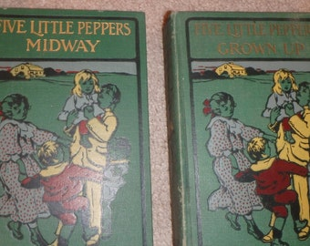 2 a893 editions- Five Little Peppers- Midway and Grown Up