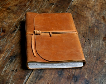 Large leather journal. Travel Journal. Leather Sketchbook. 16cm by 21.5cm