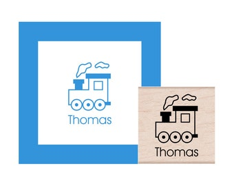 Train Personalized Rubber Stamp