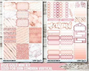 Rose Gold EC VERTICAL Planner Stickers