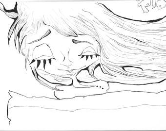 Sleeping Girl print