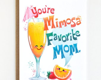 Mother's Day Card, Card for Mom, Thanks Mom Card.