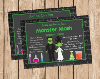Frankenstein and Bride Invitation