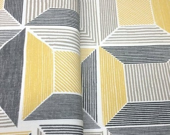 10% OFF - Yellow Squared - IKEA Birket Cotton Fabric