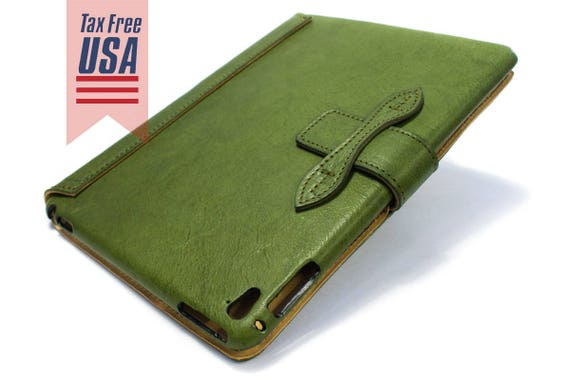 "NEW iPad 9.7"" 2017 code A1822 A1823 leather case made by genuine italian leather as protection choose color"
