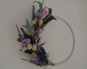 Modern Hoop Wreaths, Modern Hoop, Wreaths, Easter decor, Easter, Floral decor, Home Decor, Minimalist