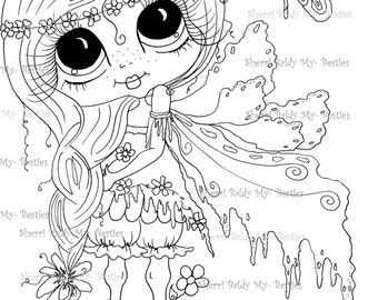 INSTANT DOWNLOAD Digital Digi Stamps Big Eyed  Besties Big Head Dolls Scann0003 Fairy Digi By Sherri Baldy