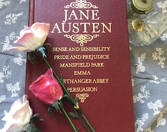 Vintage Jane Austen Collection Book, Sense and Sensibility, Pride and Prejudice, Mansfield Park, Emma, Northanger Abbey, Persuasion