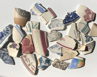 Large genuine sea pottery shards for mosaics/crafting