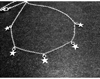 Silver Star Necklace Layering Enchanted Gifts for Her by MinouBazaar