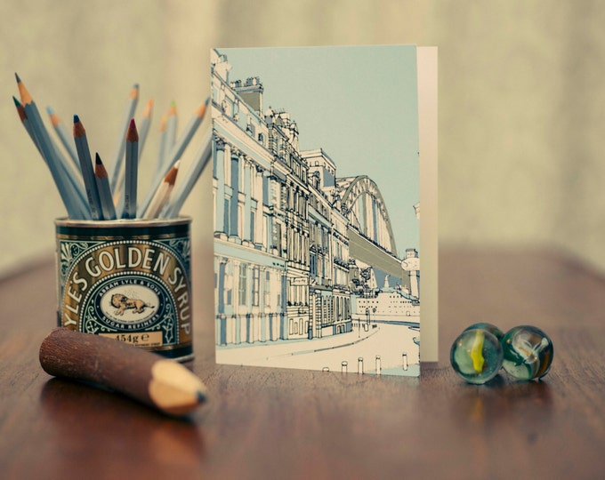 Art / Greeting Card - Quayside, Newcastle.