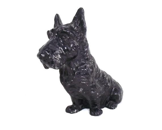 Antique Cast Metal Scottie Dog Figurine
