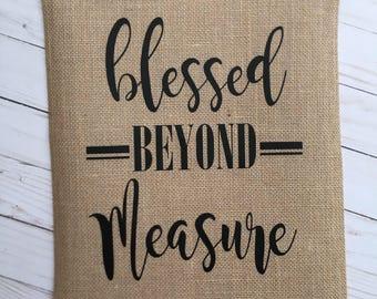 Blessed Beyond Measure Garden flag