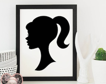 Barbie Silhouette - SVG CUT FILE