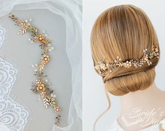 Wedding hair jewelery, bridal hairpiece, vintage bridal hair vine, hair hair accessories