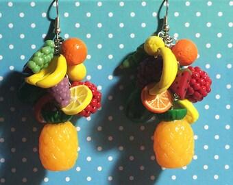 Pinup Retro Rockabilly Carmen Fruit Earrings