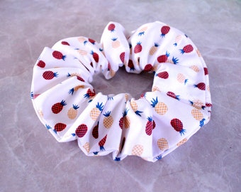 Summer Pineapple Hair Scrunchie 100% Cotton