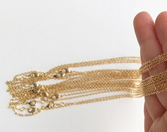 10 necklace chain wholesale chains gold chains Jewelry Supply, Craft Supplies, Mignon and Mignon Supply 10PCHN-G