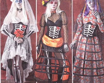Simplicity Sewing Pattern 1033 R5 Misses' Day Of The Dead Costumes  New UNCUT
