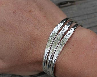 Sterling Silver Customized Stacking Cuff