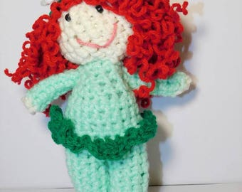 stuffed dolls, stuffed doll with red hair, stuffed baby doll, stuffed girl doll, handmade stuffed doll, stuffed dolls handmade, crochet doll