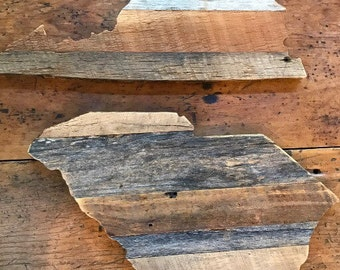 Barn Wood States Engraved - Small