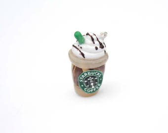 Starbucks Frappuccino Drink Miniature Polymer Clay Food Charm