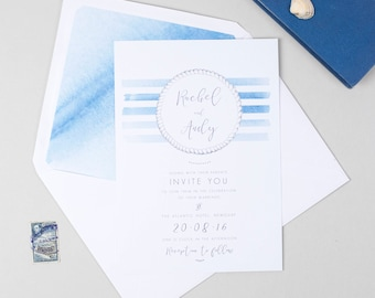 Captain, nautical, seaside wedding invitation
