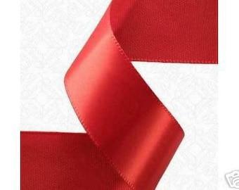 7/8x100 yds Single Face Satin Ribbon - RED