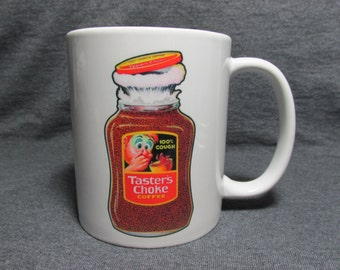 Wacky Packages - Taster's Choke 11oz Novelty Coffee Mug, Cup - Unique, Sharp Image - A Blast from the Past! - Great Gift , Birthday, Father