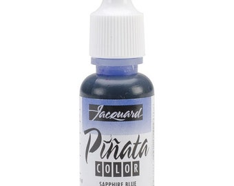 Pinata Color alcohol ink by Jacquard, .5oz bottle, Sapphire Blue