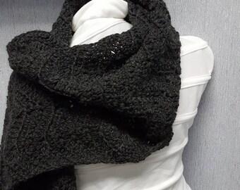 Charcoal grey scarf
