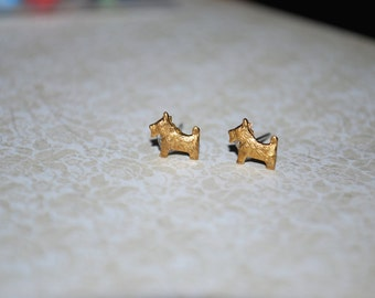 Dog Earrings -- Tiny Dog Earrings, Schnauzer, Scottie Terrier, Studs, Silver Dog Earrings, Tiny Dog Studs