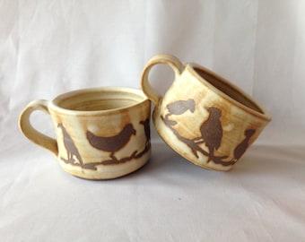 Large Bird Mugs