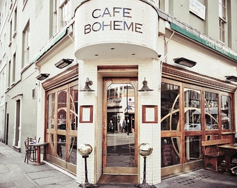 London Photography art print, London gallery art print - Cafe Boheme